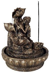 Fonte e Incensário Buda Relax