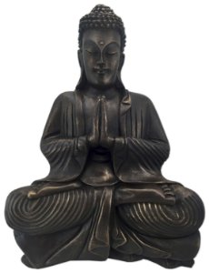Big Buda Anjali Mudra Old Gold