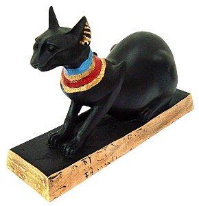 Escultura Gato Egípcio Bastet Lying