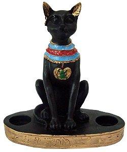 Castiçal Gato Egípcio Bastet