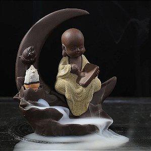 Incensário Cascata Buda Baby Art + 50 Cápsulas De Incenso Cone Refluxo