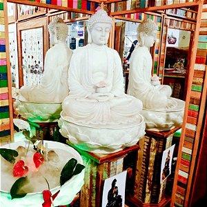 Fonte Buda Zen Lótus Marmorite 90cm 220V