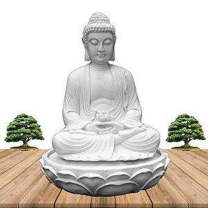 Fonte Buda Zen Lótus Marmorite 70cm 220V