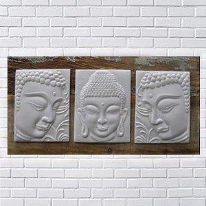 Quadro Buda Trio Wood Marmorite