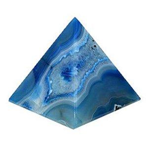Pirâmide De Pedra Natural Ágata Azul 6x4 cm