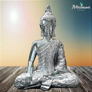 Big Buda Bhumisparsha Mudra Crome