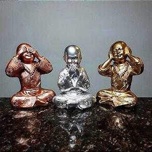 Trio de Monges Sábios Metalic Colors