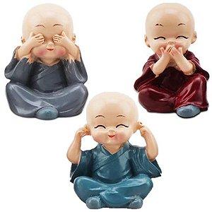 Trio de Monges Sábios Mini