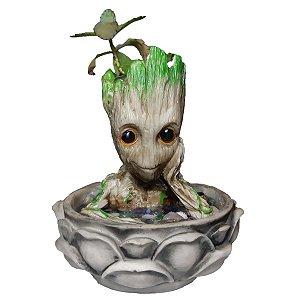 Fonte de Água Decorativa Baby Groot 110V
