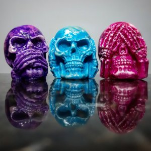 Mini Caveiras Sábias Colors (trio)