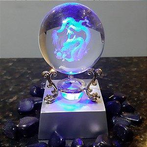 Luminária Dragão Esfera 3D Laser