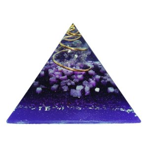 Orgonite Pirâmide Violeta - Espiritualidade | 6x5 cm