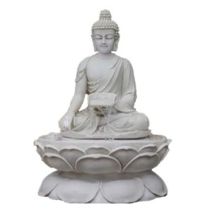 Fonte Buda Tibetano Marmorite 70 Cm - 110V