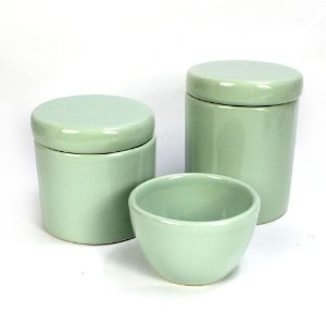 Kit Higiene Verde Menta sem Bandeja - 03 Peças