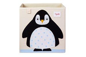 Cesto Organizador Quadrado Pinguim - 3 Sprouts