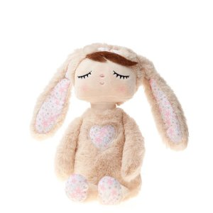 Boneca Angela Plush Tici Coelha Bege 33 cm  - Metoo