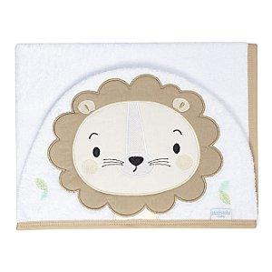 Toalha de Banho Branca com Capuz de Leão