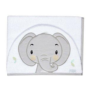 Toalha de Banho Branca com Capuz de Elefante