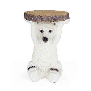 Mesa Urso Polar em Resina