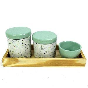 Kit Higiene Granilite Verde Água