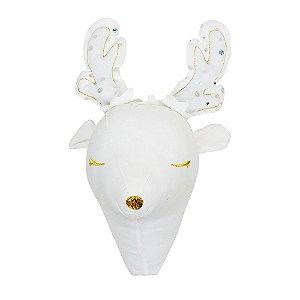 Cabeça Decorativa Alce com Brilhos