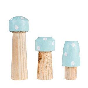 Trio de Cogumelos Verde