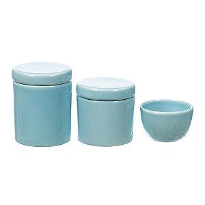 Kit Higiene Azul Bebê sem Bandeja - 03 Peças
