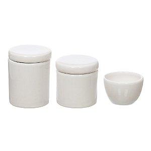 Kit Higiene Branco sem Bandeja - 03 Peças