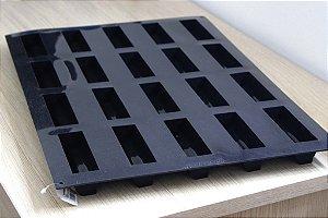 Tapete de silicone 60x40cm com 20 cavidades 3,5x12cm