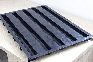 Tapete de silicone 60x40cm com 5 cavidades.