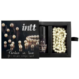 KIT MASSAGEM SENSUAL COM GEL E COLAR DE PÉROLAS IN LOVE INTT