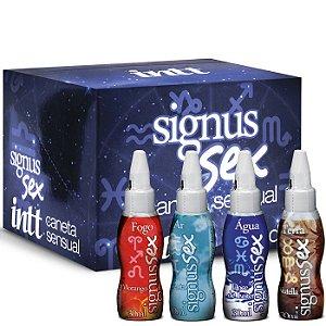 Caixa com 16 Canetas Beijáveis Vários Sabores - Signus Sex - Intt