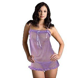 Conjunto com camisola e calcinha lilás - EROTIC POINT