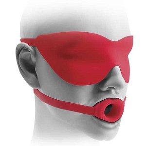 Mordaça em forma de aro com máscara - PIPEDREAM