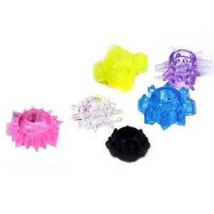 Kit com 6 anéis penianos - STRETCHABLE NEW MAGIC RING SET