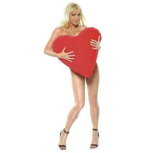 Almofada inflável com formato de coração
