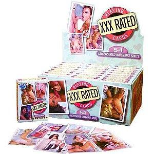 Baralho erótico com 54 cartas - XXX RATED - PIPEDREAM PP