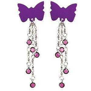 Kit com 2 piercings de borboletas - BODY CHARMS BUTTERFLIES