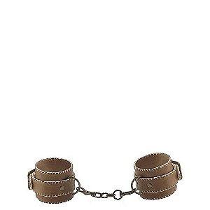 Algemas de Tornozelo em Couro com Metal - Leather Cuffs