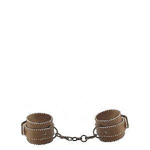 Algemas de Punho em Couro com Metal - Leather Cuffs - Ouch