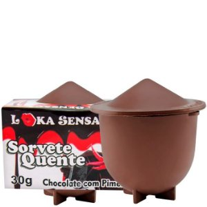 Calda Beijável Sabor Chocolate com Pimenta - Sorvete Quente