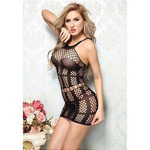 Mini Vestido Sensual Preto - Yaffa