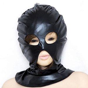 Máscara Cirré Preto para Fetiche - Fetish Mask