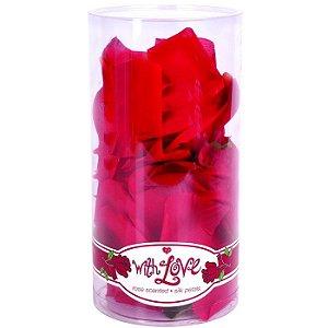 Pétalas de Seda Vermelha com Perfume de Rosas - With Love