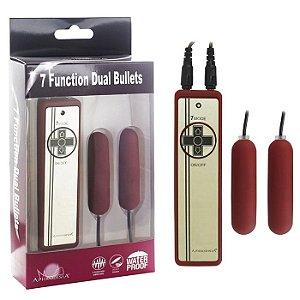 Vibrador com 2 Cápsulas Vibratórias  7 Function Dual Bullets