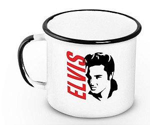 Caneca Esmaltada Elvis 360ml