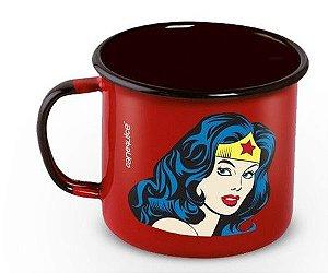 Caneca Esmaltada Wonder Woman 360ml