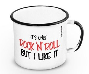 Caneca Esmaltada Rolling Stones 360ml
