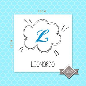 PLACA PERSONALIZADA ACRÍLICA DECORATIVA BABY CLOUD BLUE