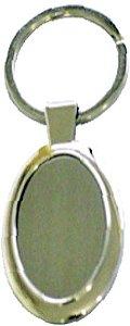 Chaveiro em metal Oval